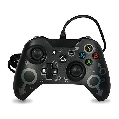 Wired Controller Xbox One Gamepad per Giochi USB Cablato Joypad Joystick di Gioco Microsoft Windows 7/8/10 Joystick per Xbox One/Xbox one X/Xbox One S/Xbox Series X/S(Nero)