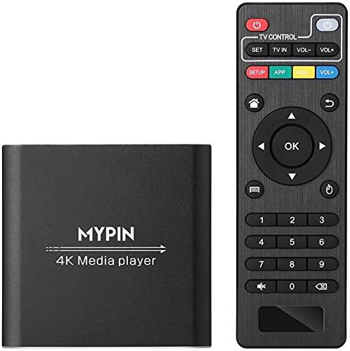 Lettore multimediale digitale 4K @ 30hz Uscita HDMI / AV PPT MKV AVI RMVB RM per HDTV con supporto telecomando Unità USB e schede SD Mouse USB