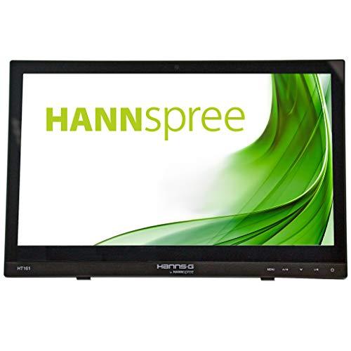 HANNspree HT161HNB Monitor Touchscreen HDMI con Schermo Multi-Touch da 15,6 pollici, Nero