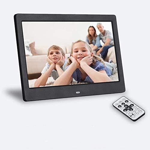 SeeKool Cornice Digitale 10 pollici 1024x768 Portafoto Digitale Alta Risoluzione Display 16: 9, per Musica/MP3/ MP4/Video/Calendario/Sveglia/Auto On/Off Timer, con Telecomando,Nero