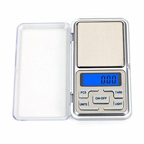 Bilancia Digitale Bilancia Elettronica Mini Portatile Bilancia 100g x 0.01g, Digital Pocket Bilancia con Display LCD Retroilluminato