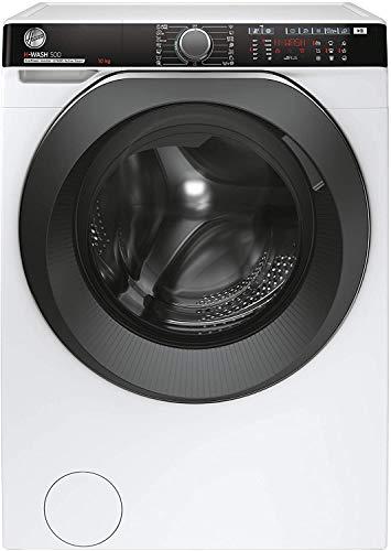 Hoover HWPD 610AMBC/1-S H-WASH 500 PRO Lavatrice Smart 10 Kg, 1600 Giri, Wi-Fi + Bluetooth, Carica Frontale, Funzione Vapore, Motore Inverter, Libera Installazione, 60-58-85 cm, Bianco, Classe A