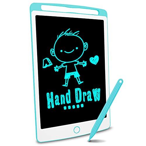 Richgv Tavoletta Grafica LCD Scrittura Digitale, Elettronico 10 Pollici Portatile Lavagna Cancellabile Disegno Pad Writing Tablet con Stilo per Bambini Adulti della Casa Scuola Ufficio Green