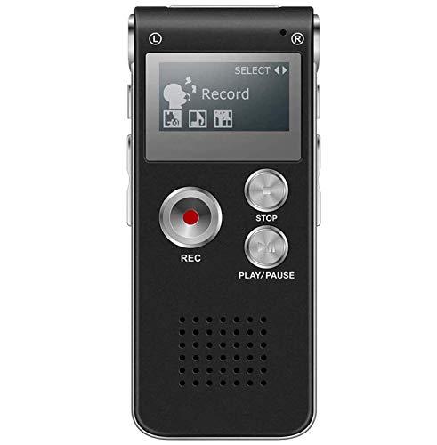 BIGFOX Registratore Vocale Digitale 8GB di Memoria USB Registratore Vocale Portatile