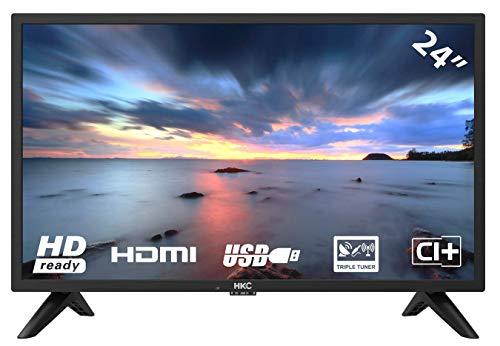 HKC 24F1D HD LED TV 60 (24 pollici HD TV), CI+, HDMI+USB, Triple Tuner (DVB-C / -T2 / -S2), 60Hz, Mediaplayer