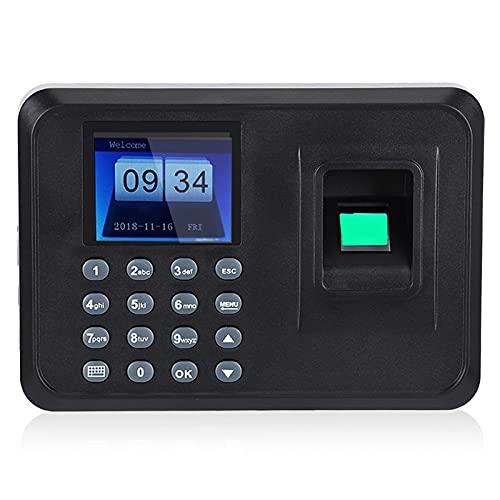 Presenze macchina 2,4 pollici TFT LCD schermo DC 5V orologio biometrico fingerprint password attendance machine check-in registratore(EU)