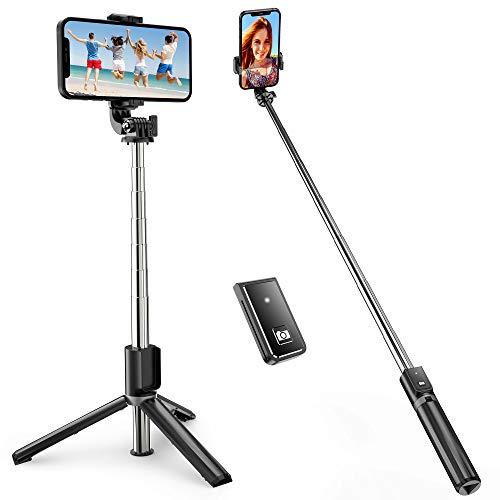 ATUMTEK Bastone Selfie, TikTok Bastone Selfie Treppiede Estensibile Fino a 1m con Telecomando Wireless per iPhone 12/11/11 Pro/X/XS/8/7/6, Samsung Galaxy S10/S9, Huawei e Altri Smartphone