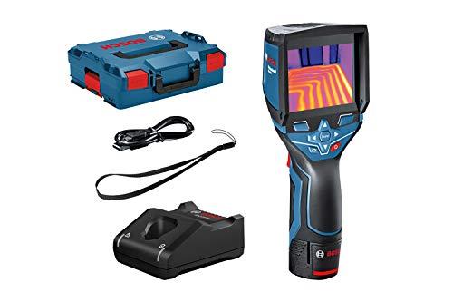Bosch Professional 12V System Termocamera GTC 400 C, Batteria 12 V, con Funzione App, Intervallo di Temperatura: da -10 °C a +400 °C, Risoluzione: 160 x 120 Pixel, in Valigetta L-BOXX