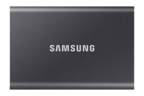 Samsung Memorie T7 MU-PC500T SSD Esterno Portatile da 500 GB, USB 3.2 Gen 2, 10 Gbps, Tipo-C, Grigio Titanio
