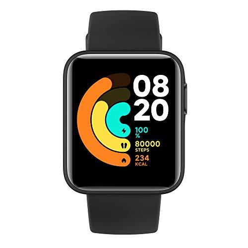 Xiaomi Mi Watch LITE Orologio Smart, Display LCD TFT 1.4'', Fino a 9 Giorni di Autonomia con una Ricarica, GPS integrato, Monitora 11 Tipologie di Sport, Nero, Versione Italiana