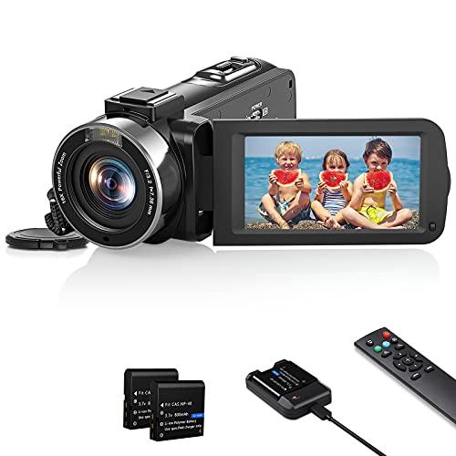 Videocamera 1080P FHD Camcorder 30FPS 36MP Videocamera Vlogging YouTube IR Visione Notturna 16X Zoom Digitale Registratore 3.0