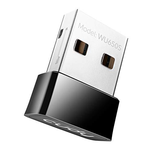Cudy WU650 Adattatore WiFi USB AC650 433Mbps + 200Mbps USB per PC con modalità SoftAP - Nano Size   Compatibile con Windows XP / 7/8 / 8.1/10, Mac OS 10.6~10.11