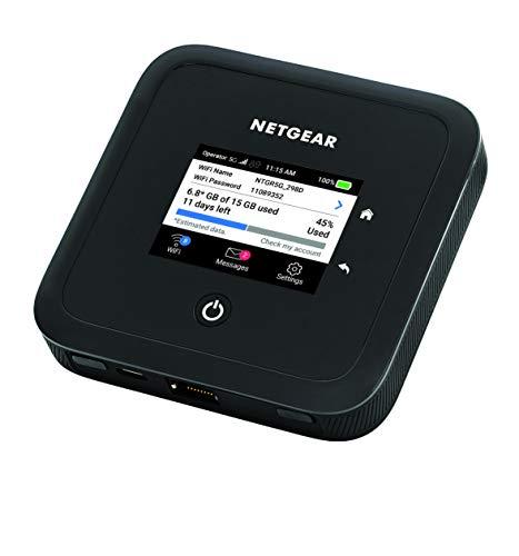 NETGEAR Nighthawk Router 5G MR5200, Router WiFi con sim, Velocità WiFi 6 fino a 1.8 Gbps, Rete Wireless Sicura Ovunque