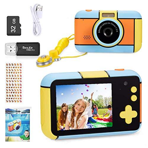 YunLone ToyZoom Macchina Fotografica per Bambini 24MP Fotocamera Digitale 1080P HD Videocamera Obiettivo Doppio Selfie Fotocamera con 32GB Scheda SD, 2.4 Pollici, Regalo di Compleanno