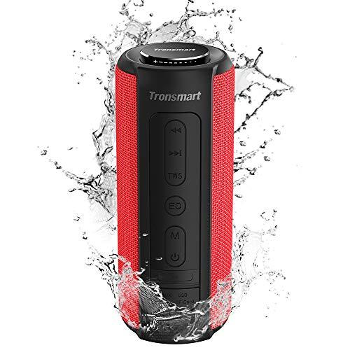 Tronsmart T6 Plus Cassa Bluetooth 40W, Altoparlante Waterproof IPX6 con Powerbank, Suono Stereo, 15 Ore di Riproduzione, Effetti Tri-Bass, Speaker con Bluetooth 5.0