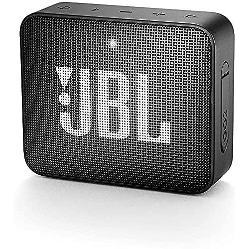 JBL GO 2 Speaker Bluetooth Portatile – Cassa Altoparlante Bluetooth Waterproof IPX7 – Con Microfono, Funzione di Noise Cancelling, Fino a 5h di Autonomia, Nero